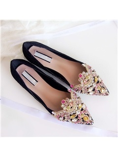 Crystal Pointed Toe Women's Flats