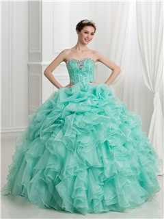 Glamorous Sweetheart Beading Pick-ups Ball Gown Quinceanera Dress