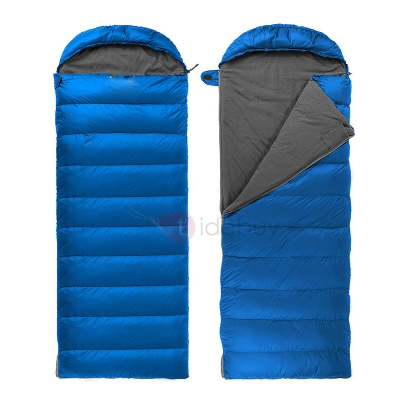 300T Nylon Rectangular Sleeping Bag with Hood