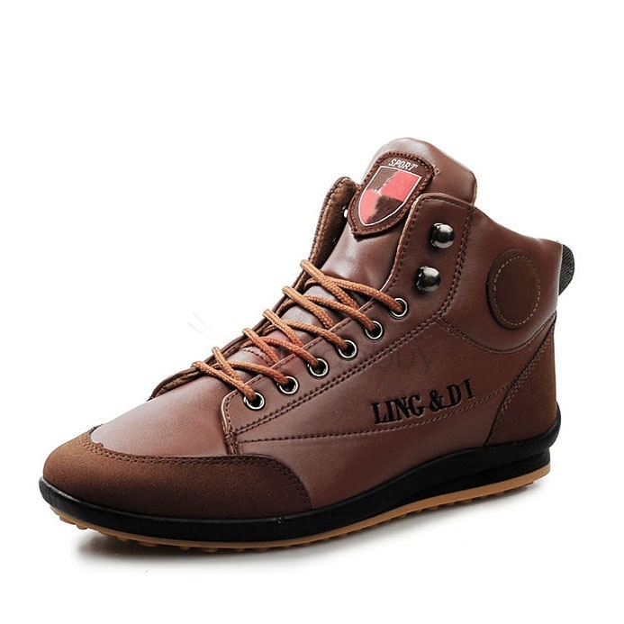 PU  Lace-Up Sneakers