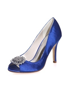 Rhinestone Peep-Toe Wedding Shoes