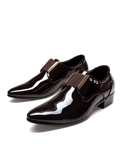 Rivets Pointed Toe Mens Dress Shoes