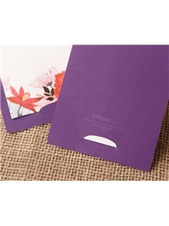 Flower Printing Wedding Invitation Cards (20 Pieces One Set)
