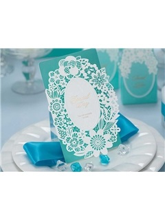 Laser Cut Flower Wedding Invitation Cards (20 Pieces One Set)