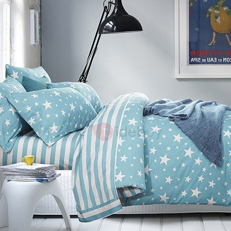 Stars Printed 4 Piece Bedding Sets