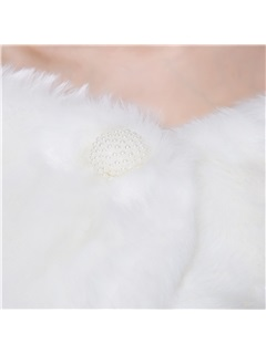 Gentle Faux Fur Wedding Shawl
