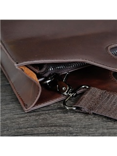 Casual Zipper Solid Zipper Men Bag