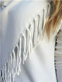 Stylish Tassel Decorated Asymmetric Inclined T-Shirt