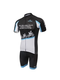 Polyester Short-Sleeve Bike Jersey And Shorts