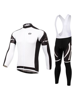 Winter Fleece Long Sleeve Mens Cycling Outfit