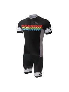 Bike-Printed Cycling Jersey And Shorts