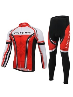 Polyester Full-Zip Cycling Jersey And Pant