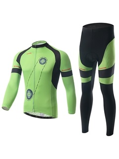 Polyester Spring Full Zip Cycling Outfit