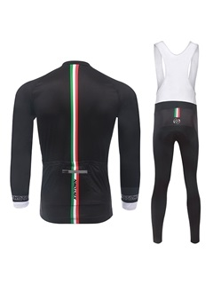 Polyester Full-Zip Bike Jersey And Bib Pants