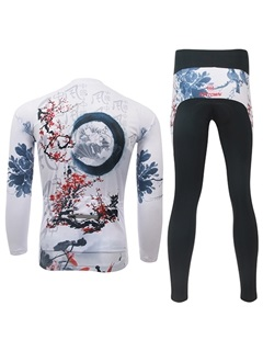 Polyester Chinese-Painting Cycling Outfit
