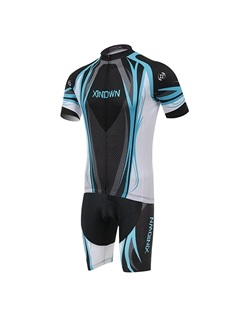 Polyester Full-Zip Bike Jersey And Shorts