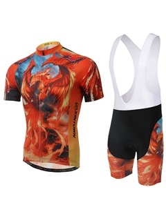 Polyester Animal Print Women Cycling Outfit