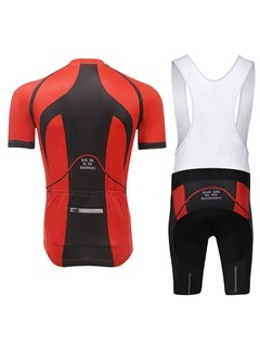 Polyester Summer Cycle Jersey And Bib Shorts