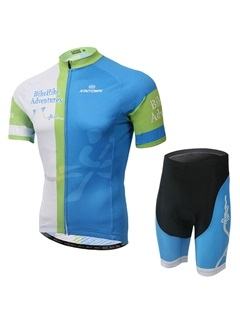 Polyester Short Sleeve Basic Cycling Jersey And Shorts