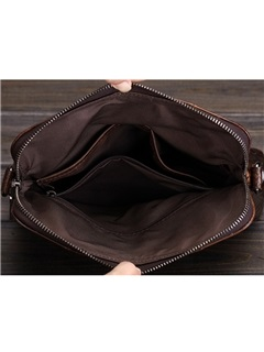 Solid Crodile Man Shoulder Bag