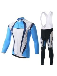 Geo-Print Long-Sleeve Cycle Jersey And Bib Tights