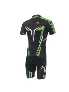 Moisture-Wicking Cycle Jersey And Bib Shorts