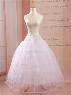 Free Size Three Hoops Wedding Petticoat