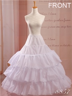 High Quality Four Hoops White Wedding Petticoat
