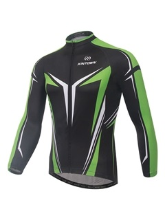 Polyester Long Sleeve Mens Bike Jersey