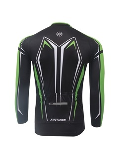 Polyester Long-Sleeve Men's Bike Jersey