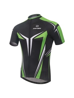 Polyester 2 Tone Quick Drying Cycling Jersey