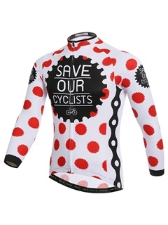 Polka Dots Thermal Winter Mens Cycle Jersey