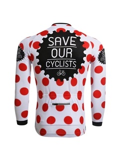 Polka Dots Thermal Winter Men's Cycle Jersey