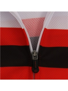 Red Long-Sleeve Breathable Men's Cycle Jersey