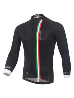 Form Fitting Full Zip Black Cycling Jersey