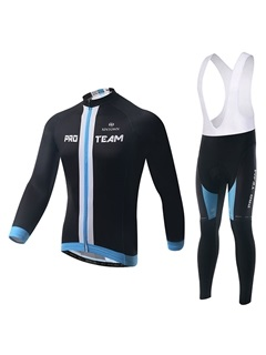 Long Sleeve Black Cycle Jersey And Bib Tights