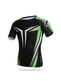 Spandex Crew Neck Mens Cycle Jersey