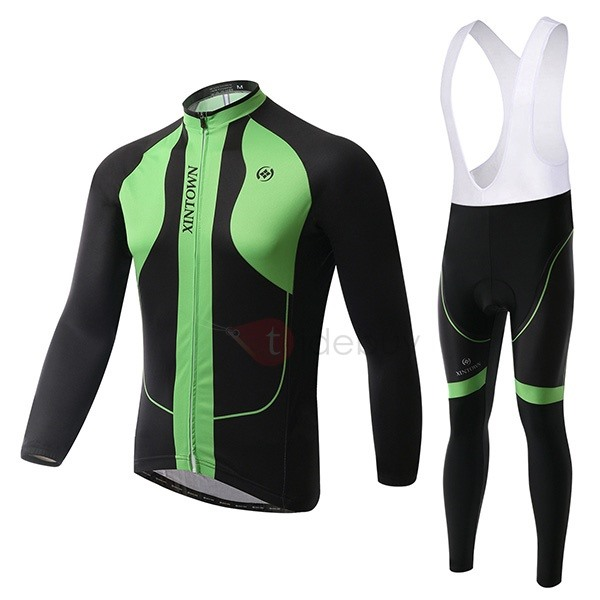 Color-Block Basic Fleece Cycle Jersey And Bib Tights