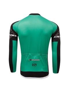 Green Full-Zip Long-Sleeve Bike Jersey