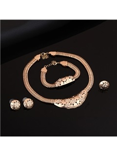 Hot Sale Hollow Rhinestones Jewelry Set for Women