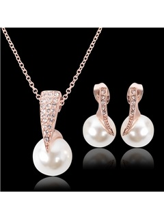 Hot Sale Rhinestones Women Jewelry Set ( Including Necklace and Earrings )