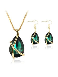 Elegant Alloy Women Jewelry Set Including Necklace And Earrings