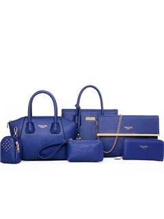 Solid Letters Chic Women Bag Set