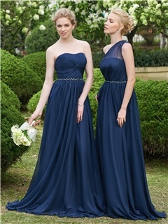 High Quality Strapless A Line Long Bridesmaid Dress