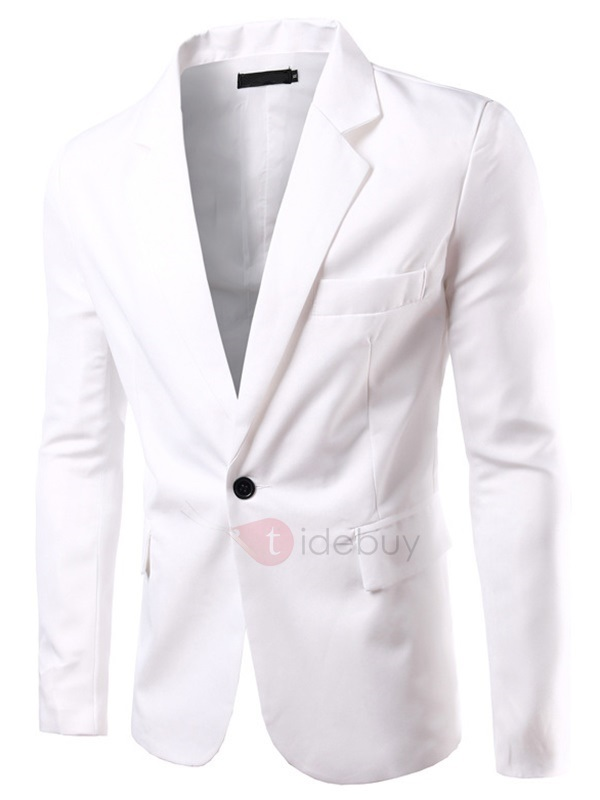 Plain Pocket Men's Long Sleeve Blazer