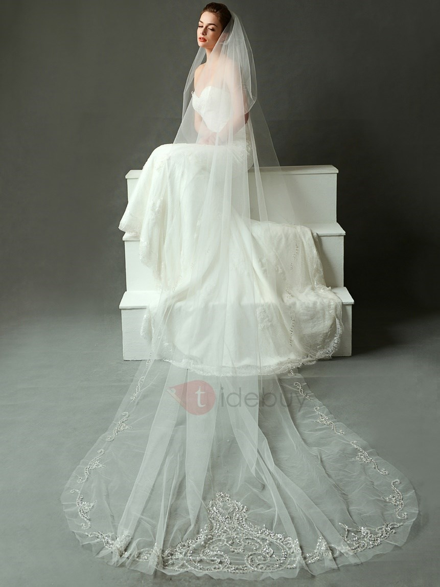 Luxury Long Wedding Veil