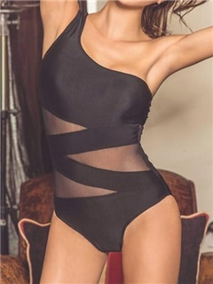 Sexy Black Monokinis One-Piece Swimsuit