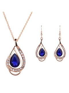 High Quality Crystal Inlaid Jewelry Set for Women