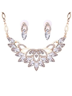 European Crystal Diamante Women Jewelry Set