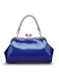 Elegant Pure Color Women's Top Handle Bag